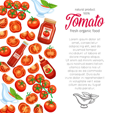 template with red tomato Illustration