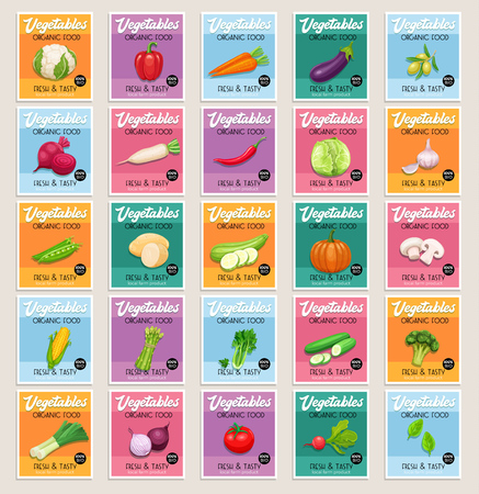 Vector banners or card vegetables
