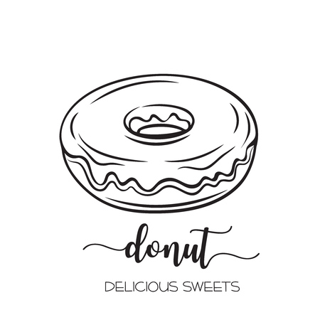 hand drawn donut