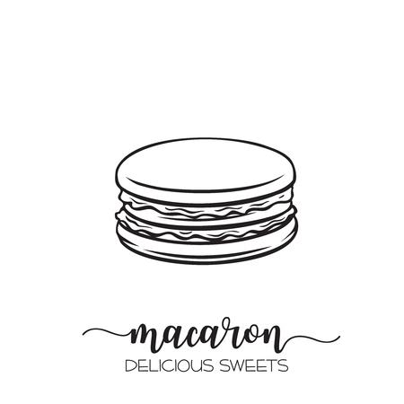Vector hand drawn macaron