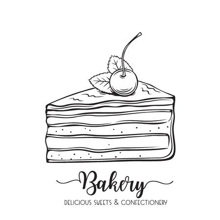 torta disegnata a mano