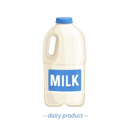 Vector bootle milk. Standard-Bild - 102589828