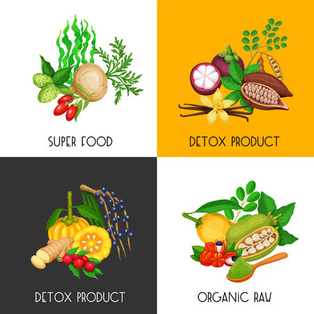 superfood banners set Illustration