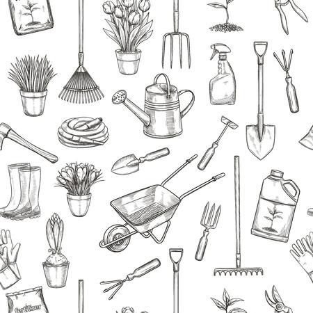 seamless pattern gardening