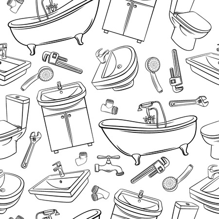 Plumbing Seamless Pattern