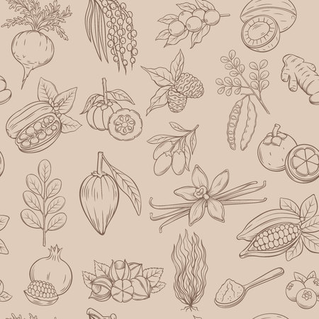 superfood seamless pattern