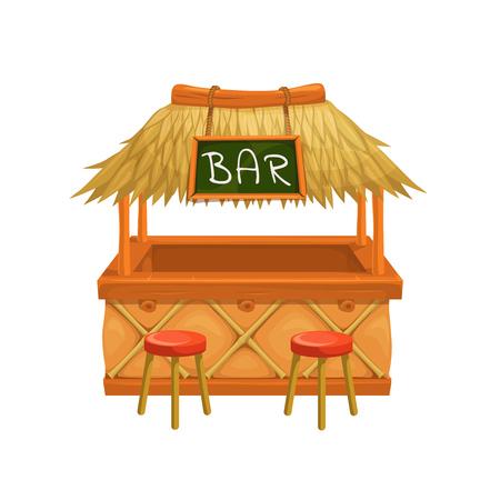 Vector tiki bar. Illustration for design hawaiian party.