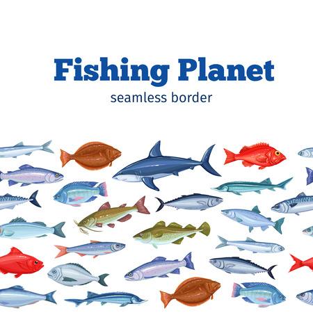 Seamleess border fish