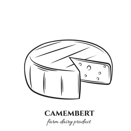 contour du camembert Vecteurs