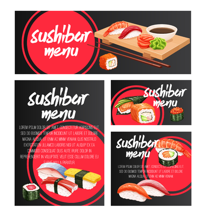 banners japanese sushi roll