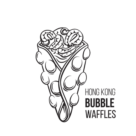 Hong kong bubble waffle