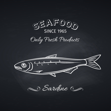 sardine icon badge fish