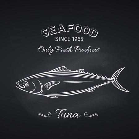 tuna hand drawn icon