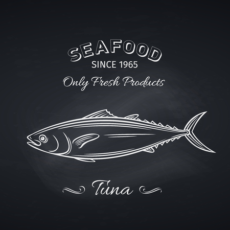 tuna hand drawn icon