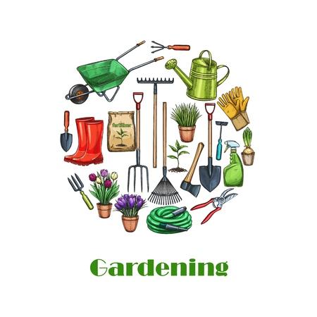 Gardening banners, sketch