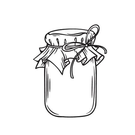 Jar of honey or glass jar 向量圖像