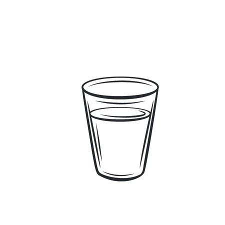 Icono de vaso de vidrio.