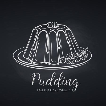Hand drawn pudding icon