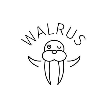 Walrus outline icon Ilustracja