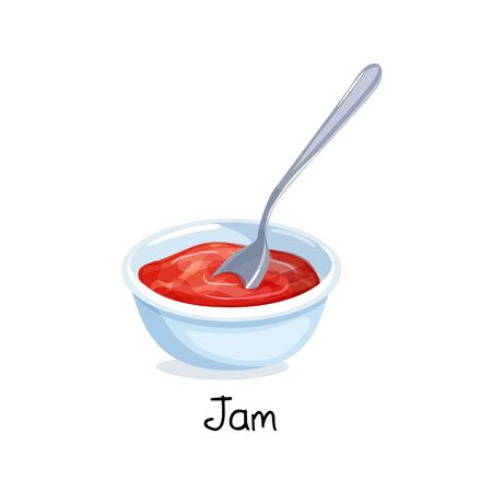 bowl of red berry jam