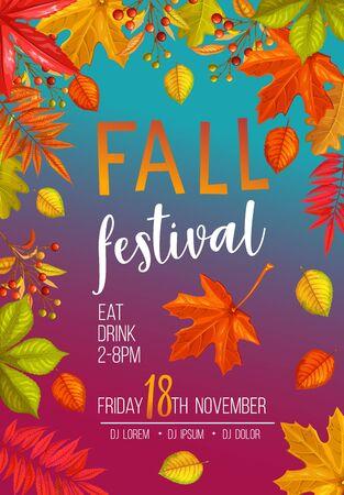 Seasonal fall festival poster