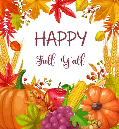 Seasonal fall banner Ilustração