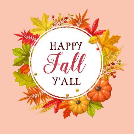 Happy fall yall card.