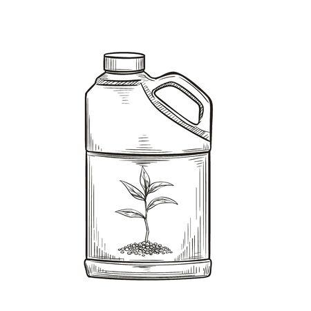 Fertilizer icon, product garden center