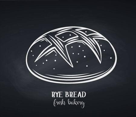 Rye bread, chalkboard style