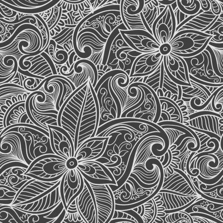 Paisley seamless pattern. Illustration