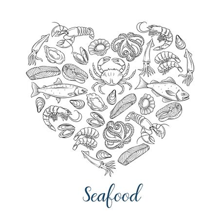 Seafood banner template