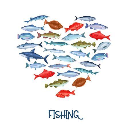 Fish banner, seafood Illustration