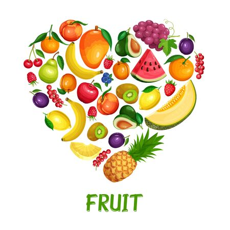 Berries and fruits design healthy food.