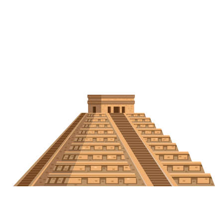 Ancient Mayan pyramid icon Stock Illustratie