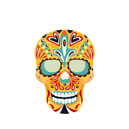 Skull, Mexican Calavera icon