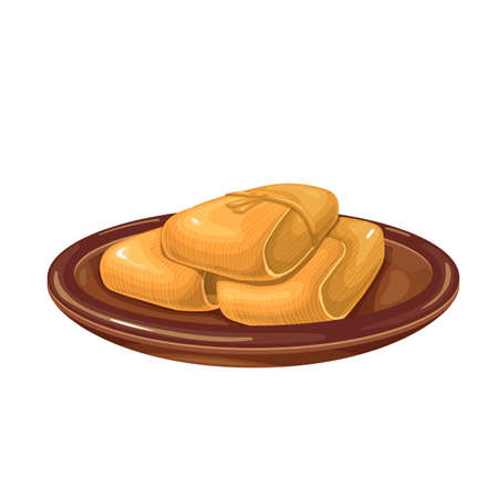 Mexican tamale icon.