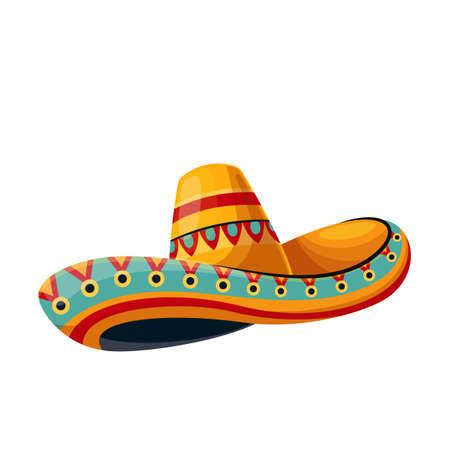 Mexican sombrero tradition hat icon