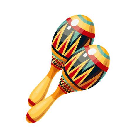 Maracas icon, musical instrument of maraca. Stock Illustratie