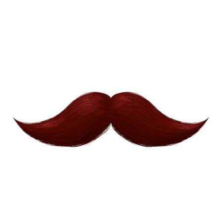 Brown mexican mustache icon