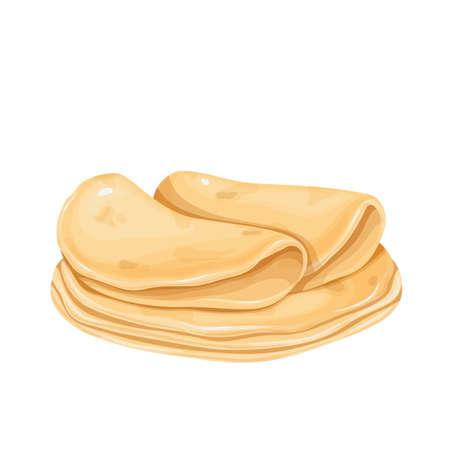 Tortilla icon, mexican food Stock Illustratie