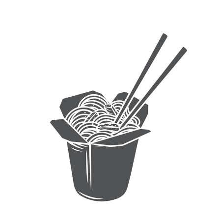 Takeaway carton wok box noodles