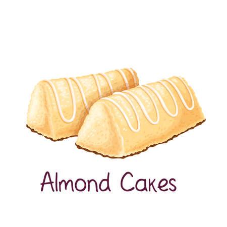 Almond cakes illustration