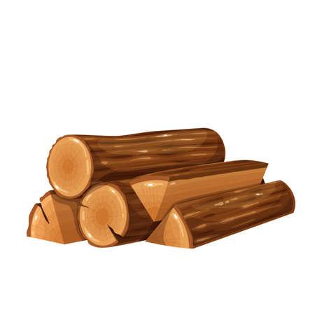Firewood wood log or timber
