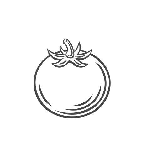 Tomato vegetable outline icon