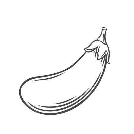 Eggplant vegetable outline icon