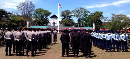 Independence day of Indonesia ceremony in Bandung.