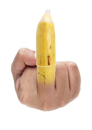 The symbolic of fuck by middle finger  photo