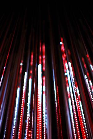 defocused bokeh graphic of lights line photo