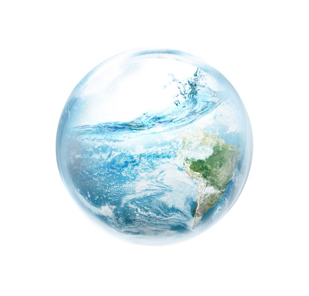 the natural world: Save the earth from El Ni No. Stock Photo