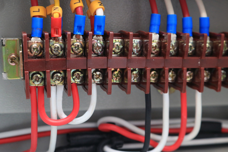 Electric wires in the Control box Center